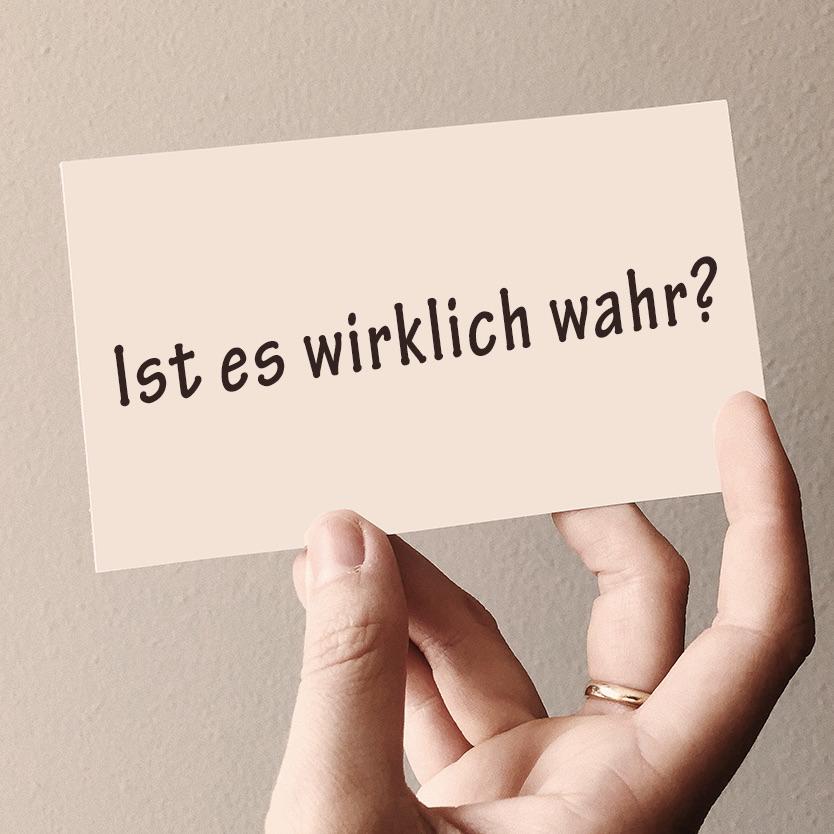 Question 1 of the work German: Ist es wahr?